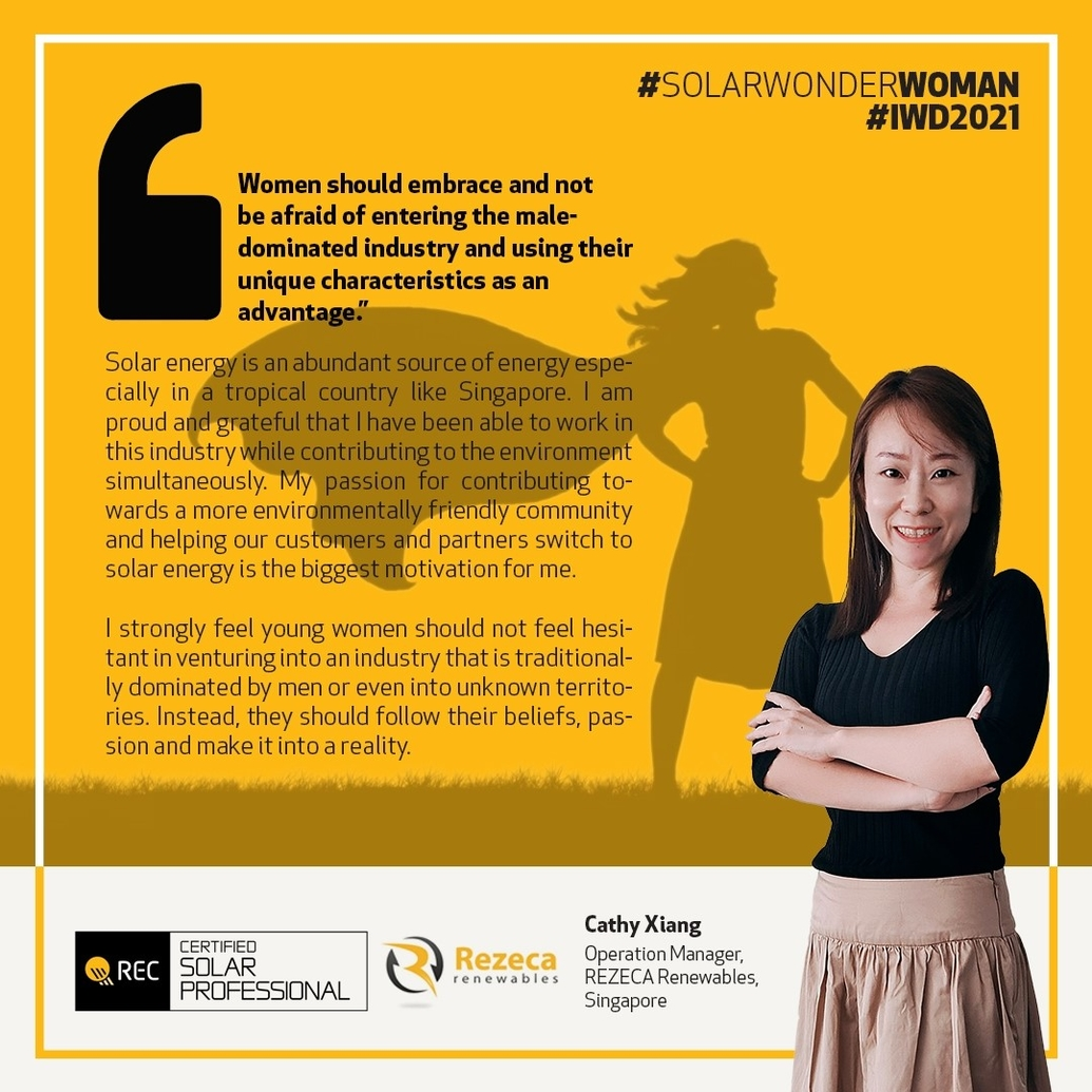 International Women's Day social card for Cathy Xiang