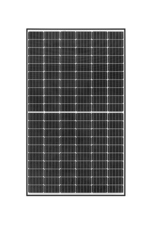 Portrait of 60-cell format REC TwinPeak 2 Mono solar panel with white backsheet and 120 half-cut cells