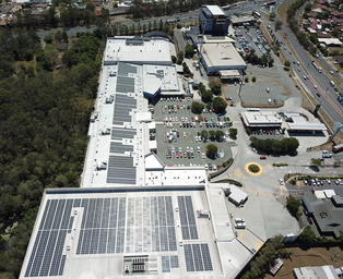 Solar installation on Calamvale Central Shopping Centre