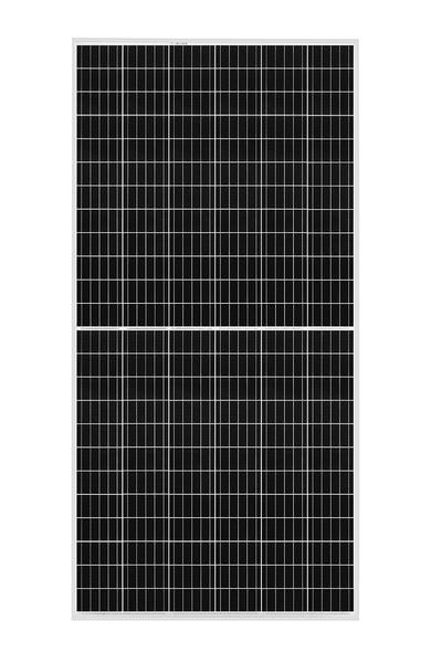 Portrait of REC TwinPeak 3S Mono 72 solar panel with 144 half-cut cells